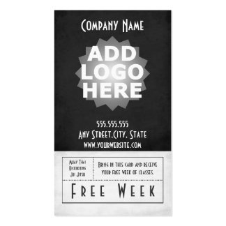 Mixed Martial Arts Business Card Free Week Pass