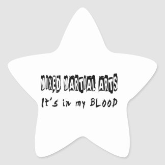 Mixed Martial Arts It's in my blood Star Stickers