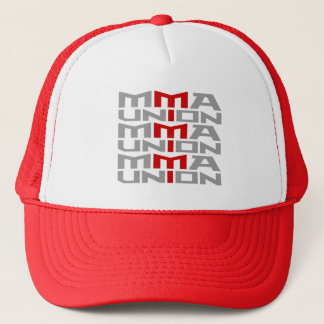 Mixed Martial Arts [MMA] Fighters Union v09 Silver Trucker Hat