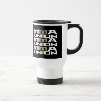 Mixed Martial Arts [MMA] Fighters Union v10, White Stainless Steel Travel Mug
