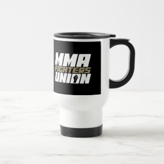 Mixed Martial Arts [MMA] Fighters Union v17, White Stainless Steel Travel Mug