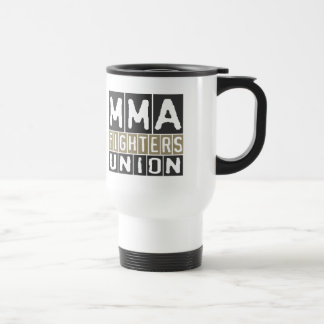 Mixed Martial Arts [MMA] Fighters Union v19, Black Stainless Steel Travel Mug