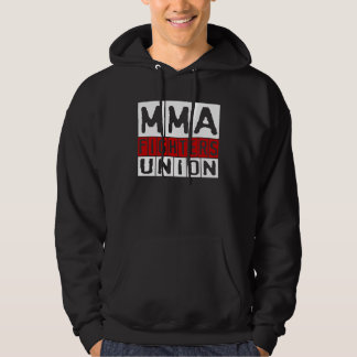 Mixed Martial Arts [MMA] Fighters Union v21, White Hooded Pullovers