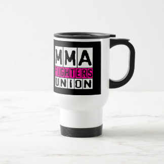 Mixed Martial Arts [MMA] Fighters Union v21, White Stainless Steel Travel Mug