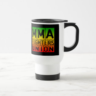 Mixed Martial Arts [MMA] Fighters Union v22, Rasta Stainless Steel Travel Mug
