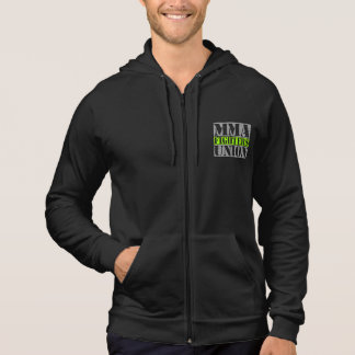 Mixed Martial Arts [MMA] Fighters Union v24 Silver Hooded Sweatshirts