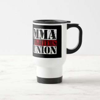 Mixed Martial Arts [MMA] Fighters Union v25, White Stainless Steel Travel Mug