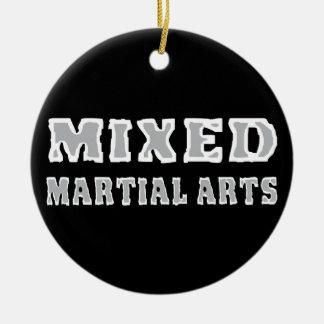 Mixed Martial Arts Round Ceramic Decoration