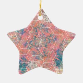 Mixed Media Bird Ceramic Star Decoration