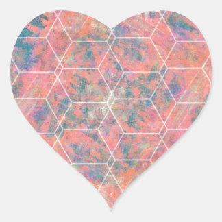 Mixed Media Bird Heart Sticker