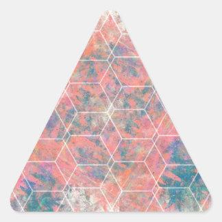 Mixed Media Bird Triangle Sticker
