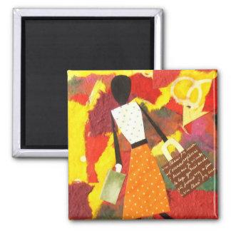 Mixed Media Colourful Art Magnet