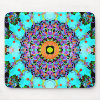 Mixed Media Concentric Symmetry Mouse Pad