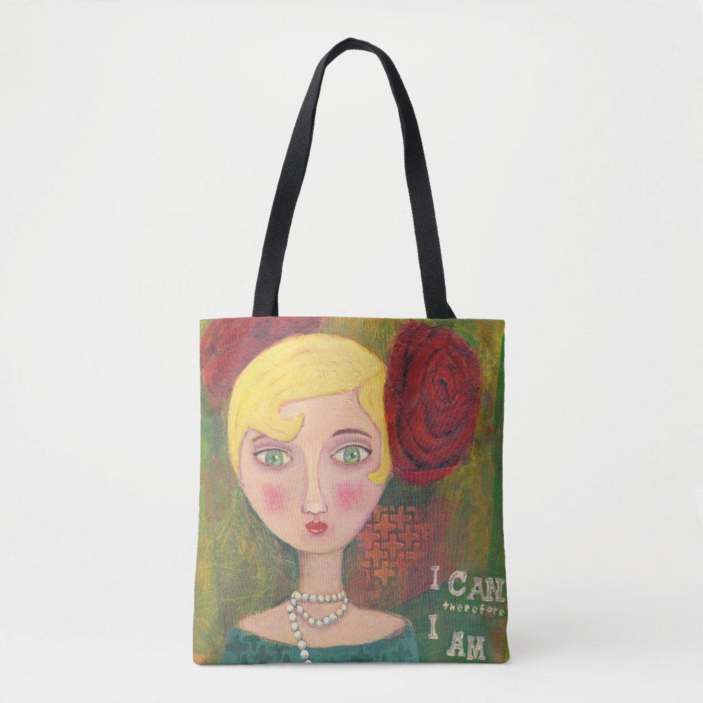 Mixed Media Lady: Medium Tote