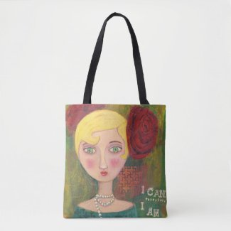 Mixed Media Lady: Medium Tote