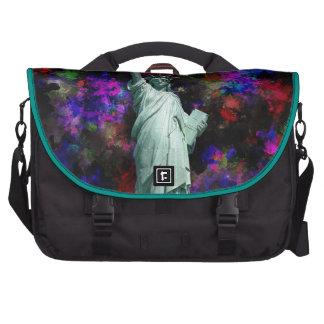 Mixed Media Statue of Liberty Commuter Bag