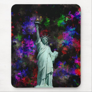Mixed Media Statue of Liberty Mouse Pad