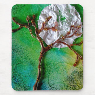 Mixed Media Tree and Moon Mouse Mat