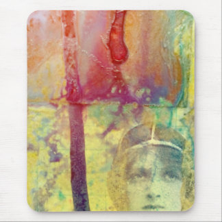 Mixed media vintage lady collage mouse pad