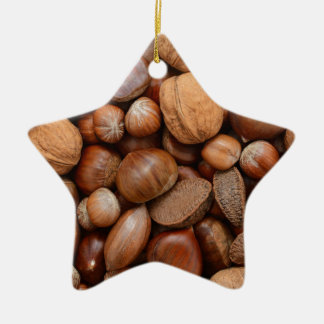 Mixed nuts ceramic star decoration