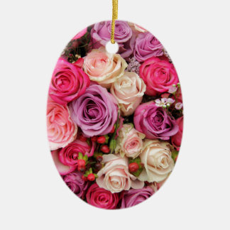 Mixed pastel roses by Therosegarden Christmas Ornaments