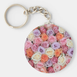 Mixed pastel roses by Therosegarden Key Chains