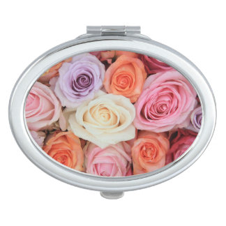Mixed pastel roses by Therosegarden Travel Mirrors