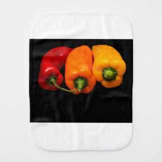 Mixed Peppers Burp Cloth