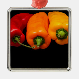 Mixed Peppers Christmas Ornament