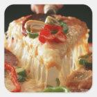 Mixed Pizza Square Sticker