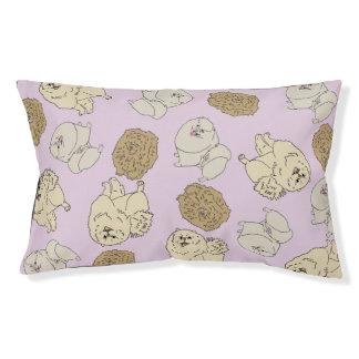 Mixed Pomeranian: Pink Pet Bed