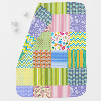 Mixed Quilt Pattern Baby Blanket