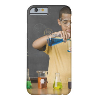 Mixed Race boy in science class Barely There iPhone 6 Case