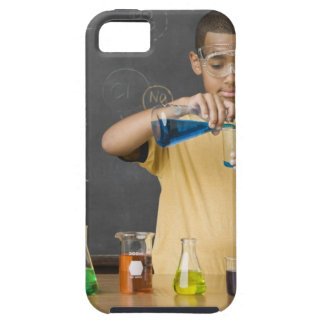 Mixed Race boy in science class Case For The iPhone 5