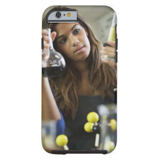 Mixed Race teenaged girl in science class Tough iPhone 6 Case