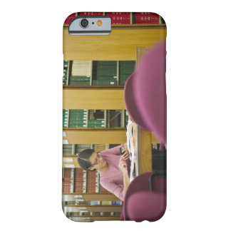 Mixed race woman doing research in library 2 barely there iPhone 6 case