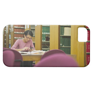 Mixed race woman doing research in library 2 iPhone 5 covers