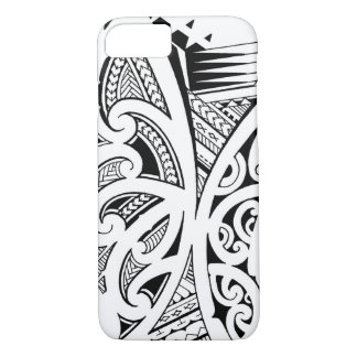 Mixed tattoo styles, Maori, Samoan and Polynesian iPhone 7 Case