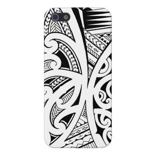 Mixed tattoo styles, Maori, Samoan and Polynesian iPhone 5 Covers