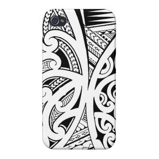 Mixed tattoo styles, Maori, Samoan and Polynesian iPhone 4 Cover