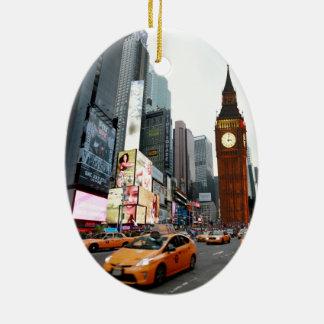 Mixed Up World! - New York City & London Ceramic Oval Decoration