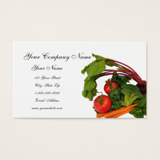 Mixed Vegetable Business Cards