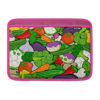Mixed vegetables, pink MacBook sleeve