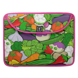 Mixed vegetables, pink sleeve for MacBooks