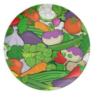 Mixed vegetables plates