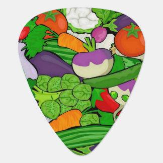 Mixed vegetables plectrum