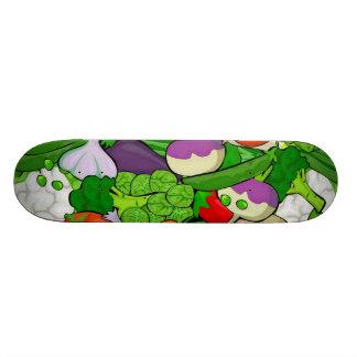 Mixed vegetables skateboard deck