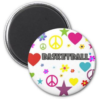 mixedgraphics-basketball. 6 cm round magnet