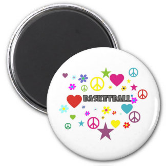 mixedgraphics-basketball. 6 cm round magnet