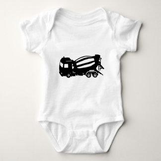 mixer truck camion toupie baby bodysuit